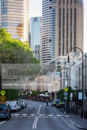 Street scene of The Rocks district in Sydney, Australia
