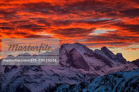 Marmolada, Dolomites, Belluno, Veneto, Italy.