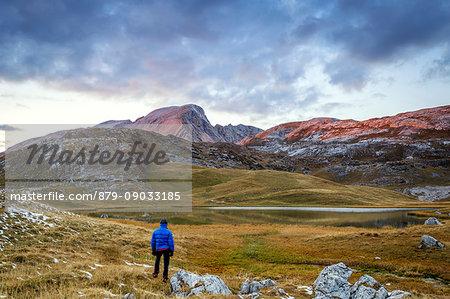 Fosses Lake with mount Croda del Beco,Cortina d'Ampezzo,Belluno district,Veneto,Italy,Europe