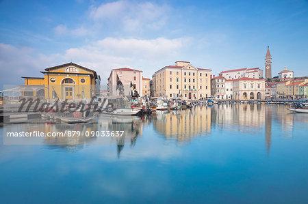 Europe, Slovenia. Port of Piran, Primorska, Slovenian Istria