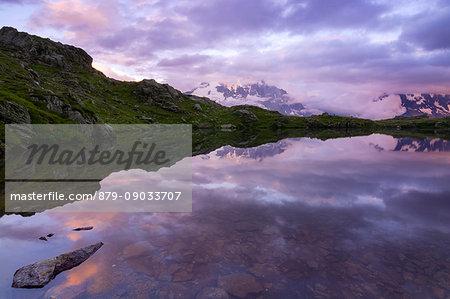 Lac de cheserys,Chamonix-France sunset ad lac de cheserys