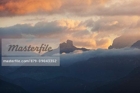Tre Scarperi Tower, Dolomites, South Tyrol, Italy.