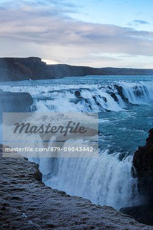 Gullfoss Waterfall, Hrunamannahreppur, Arnessysla, Sudurland, Iceland, Europe.