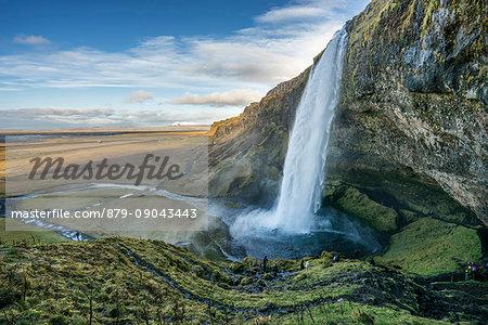 Seljalandsfoss waterfall, Porsmerkurvegur, Sudurland, Iceland, Europe