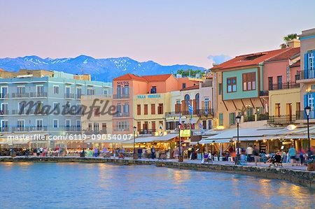The Venetian Harbour, Chania, Crete, Greek Islands, Greece, Europe