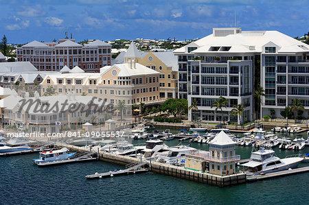 Waterfront on Pitt's Bay, Hamilton City, Pembroke Parish, Bermuda, Atlantic, Central America