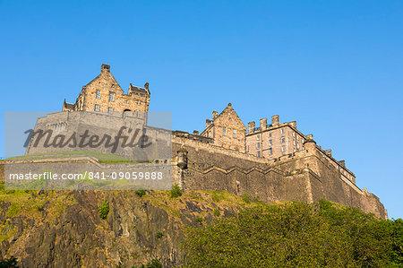 Edinburgh Castle, UNESCO World Heritage Site, Lothian, Scotland, United Kingdom, Europe