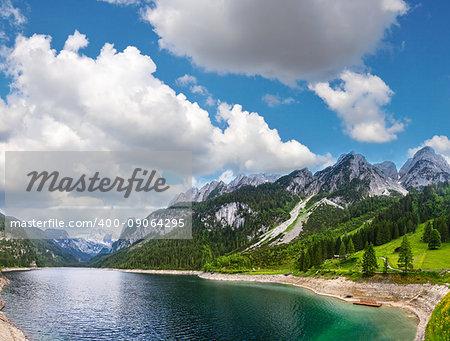 Beautiful summer Alpine lake Gosausee view (Austria).