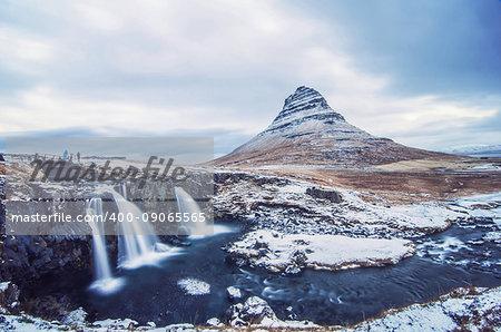 Iceladic scenery, Kirkjufell Mountain