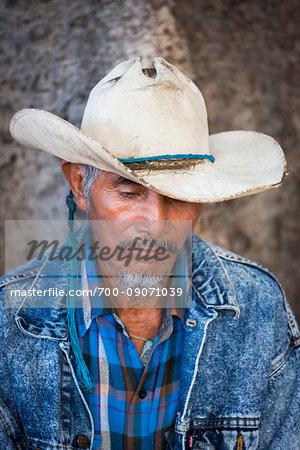 Close-up portrait of a cowboy in San Miguel de Allende, Mexico