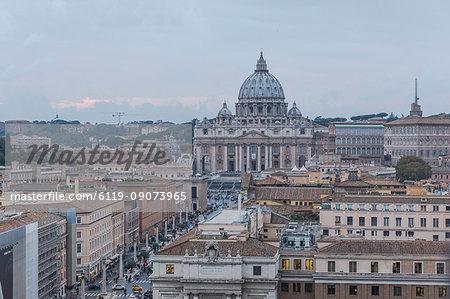 The ancient Basilica di San Pietro in the Vatican, symbol of Catholic religion, Rome, Lazio, Italy, Europe