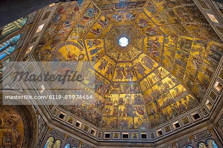 Dome of Battistero San Giovanni, UNESCO World Heritage Site, Florence, Tuscany, Italy, Europe