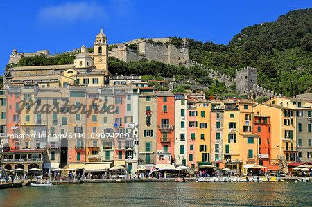 Portovenere, Italian Riviera, UNESCO World Heritage Site, Liguria, Italy, Europe