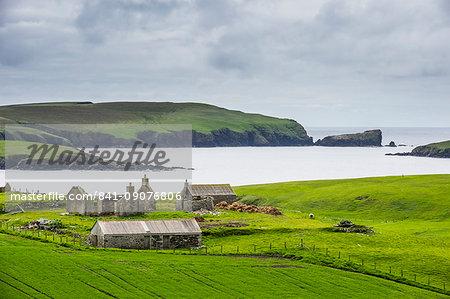 Abandonded farm, Shetland Islands, Scotland, United Kingdom, Europe