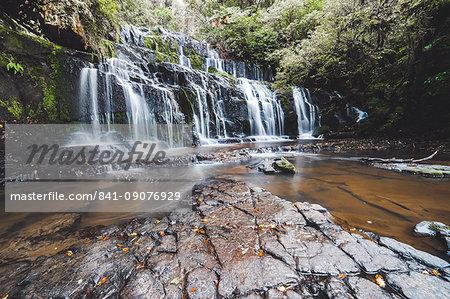 Purakaunui Falls, The Catlins, South Island, New Zealand, Pacific