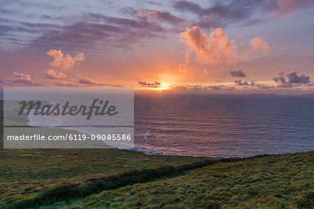 Geokaun Mountain, County Kerry, Munster, Republic of Ireland, Europe