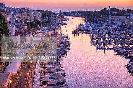 Historic old harbour, Ciutadella, Menorca, Balearic Islands, Spain, Mediterranean, Europe