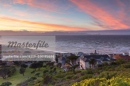 Muizenberg Beach at dawn, Cape Town, Western Cape, South Africa, Africa