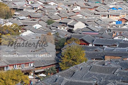 View of Lijiang, UNESCO World Heritage Site, Yunnan, China, Asia