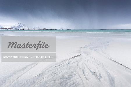 The Flakstad beach, Ramberg, Lofoten Islands, Norway
