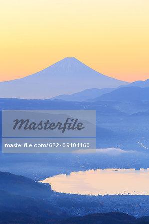 Beautiful view of Mount Fuji, Nagano Prefecture, Japan