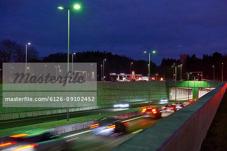 Norra Lanken Motorway in Stockholm, Sweden