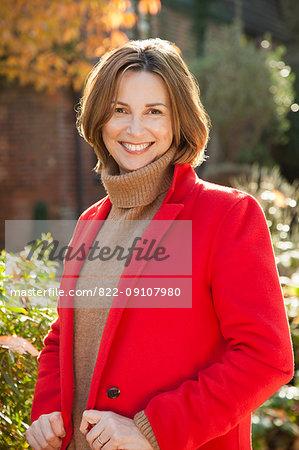Woman in Garden Smiling