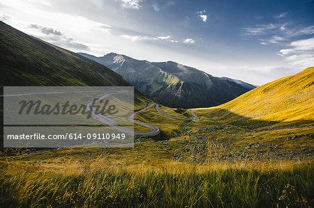 Mountain valley landscape, Draja, Vaslui, Romania