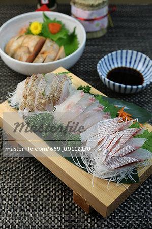 Sashimi of sea bream