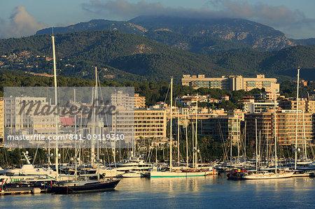 Yacht Marina, Palma De Mallorca, Majorca, Balearic Islands, Spain, Mediterranean, Europe