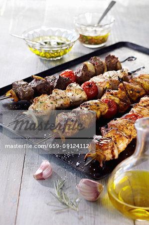 Various grilled kebabs