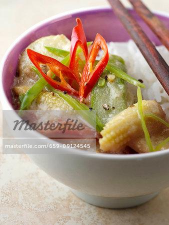 A bowl of thai curry