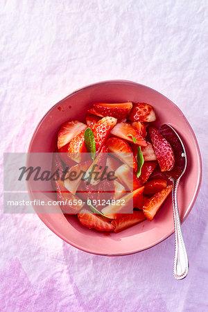 Fresh strawberries as a dessert