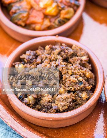 Picadillo de ciervo, a traditional deer meat dish from La Mancha, Spain