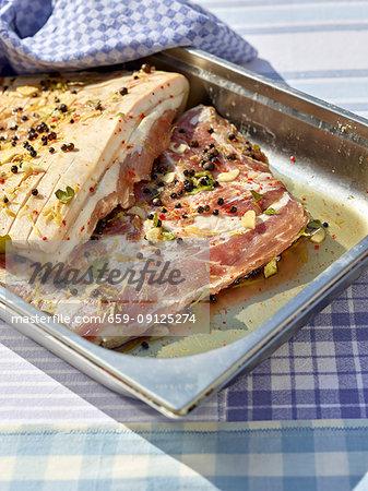 Pickled pork belly