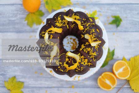 Soaked orange Bundt cake