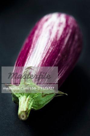A purple and white aubergine
