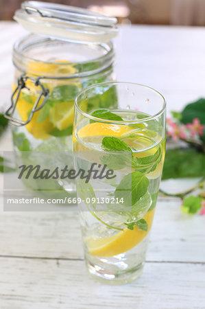 Lemon flavored water