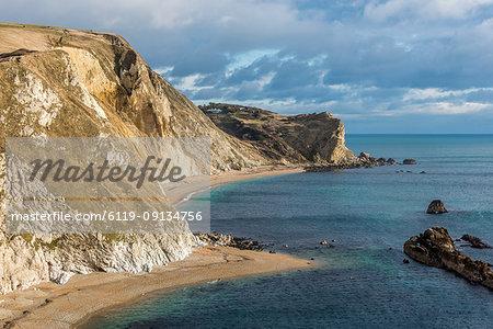 Man o War Cove, Jurassic Coast, UNESCO World Heritage Site, Dorset, England, United Kingdom, Europe