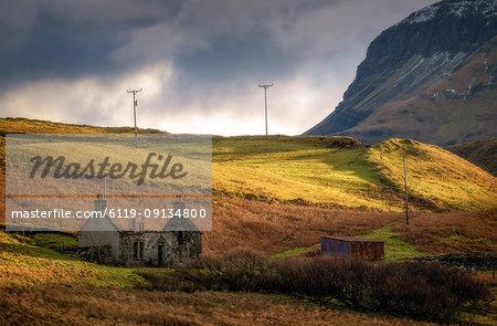 Old Cottage without roof, Isle of Skye, Inner Hebrides, Scotland, United Kingdom, Europe