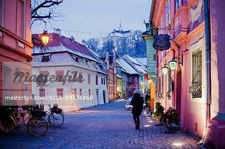 Sighisoara medieval town, UNESCO World Heritage Site, Transylvania, Romania, Europe