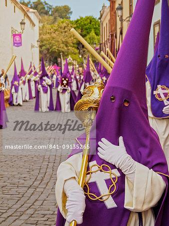 Traditional Easter Holy Week Procession in San Cristobal de la Laguna, Tenerife Island, Canary Islands, Spain, Europe