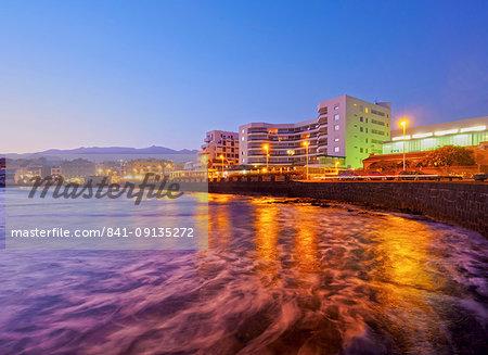 El Medano at twilight, Tenerife Island, Canary Islands, Spain, Atlantic, Europe