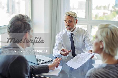 Business professionals negotiating