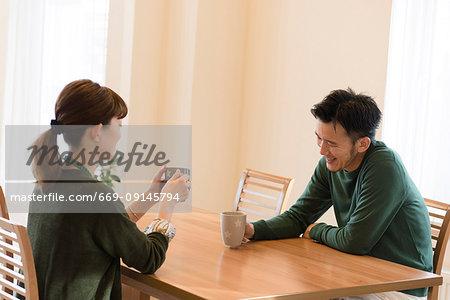 Talking married couple