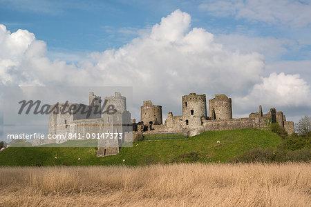 Kidwelly Castle, Carmarthenshire, Wales, United Kingdom, Europe