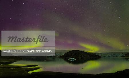 Aurora Borealis, Qualerallit glacier, South Greenland
