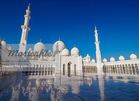 Sheikh Zayed bin Sultan Al Nahyan Grand Mosque, Abu Dhabi, United Arab Emirates, Middle East