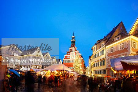Christmas market, Esslingen am Neckar, Baden-Wurttemberg, Germany, Europe