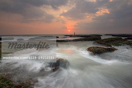 Sunset at Laguna beach, Bali, Indonesia, Southeast Asia, Asia
